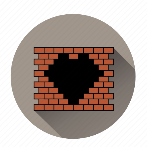 brick wall, heart, like, love, romantic, valentines, wall like icon