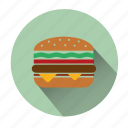 burger, cheeseburger, fast food, food, hamburger, meal, restaurant icon