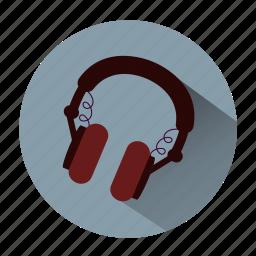 earphone, headphones, listen music, music, sound, speaker, vintage icon