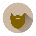 shave, barber, long beard, beard, men, character, male icon