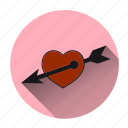 arrow, cupidon, fall in love, heart, love, romantic, valentine icon