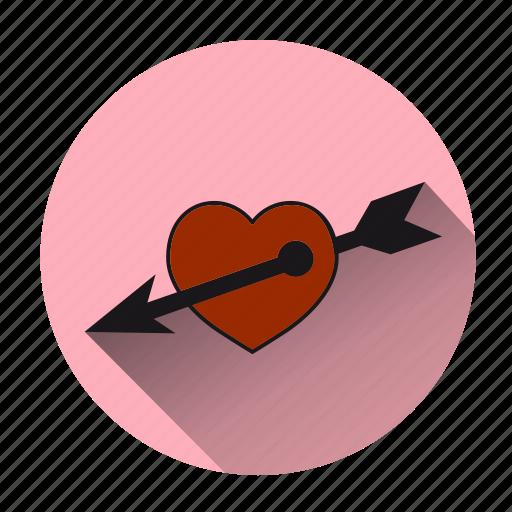 arrow, cupidon, fall in love, heart, love, romantic, valentine icon