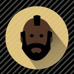 avatar, beard man, character, famous, man, mister t, profile icon