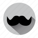 barber, beard, bearded, men, moustache, mustache, shave icon