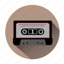 audio, audiotape, cassette, music, record, sound, tape icon