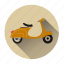 motorbike, motorcycle, retro, scooter, transportation, vehicle, vespa icon