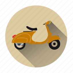 motorbike, motorcycle, retro, scooter, transportation, vehicle, vespa icon