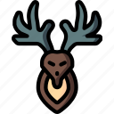 deer, hipster, retro, style, tattoo icon