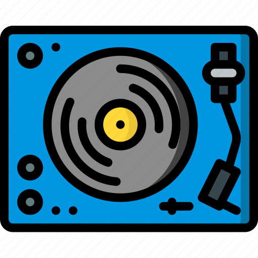 hipster, music, player, record, retro, vintage icon