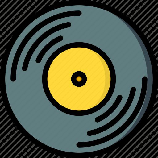 hipster, music, record, retro, vintage, vinyl icon