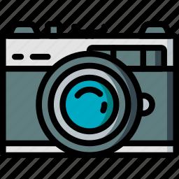camera, film, hipster, retro, vintage icon