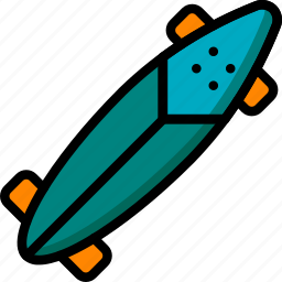 board, hipster, long, retro, style, vintage icon