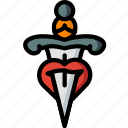 dagger, hipster, retro, style, tattoo, vintage icon