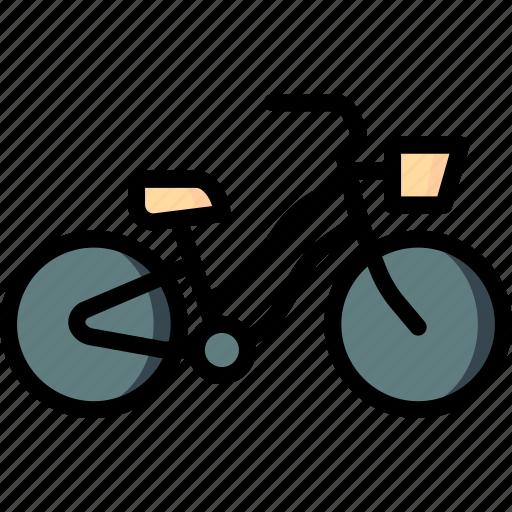 bicycle, bike, hipster, retro, transport, vintage icon