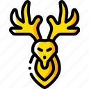 deer, hipster, retro, tattoo, vintage icon