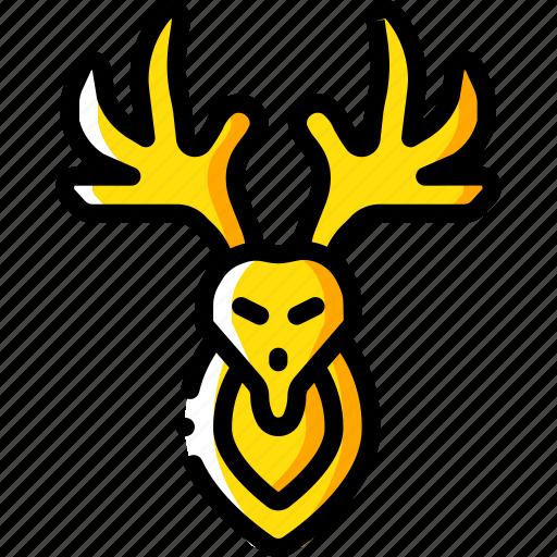 deer, hipster, retro, tattoo, vintage icon
