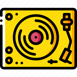 hipster, player, record, retro icon