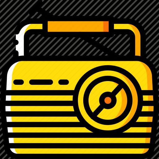 hipster, radio, retro, vintage icon