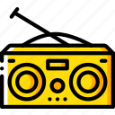 hipster, radio, retro, vintage icon