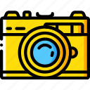 camera, film, hipster, retro, vintage icon