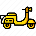 hipster, piaggio, scooter, transport, vespa icon