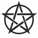 ancient, pagan, pentacle, pentagram, sign icon