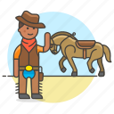 bandanna, cowboy, cowherd, desert, hat, herder, history, horse, male, old, taming, west, wild