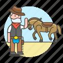 male, desert, hat, cowherd, herder, horse, wild, bandanna, taming, history, west, old, cowboy
