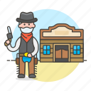 cowboy, drink, gunman, gunslinger, history, male, old, revolver, saloon, tarvern, west, wild