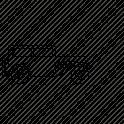 auto, bmw, car, retro icon