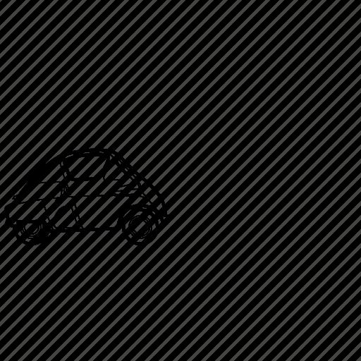 auto, bmw, car, isetta, retro icon