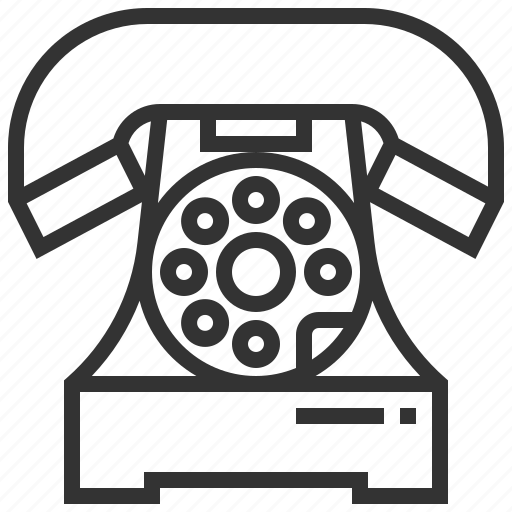 communication, connection, history, old, phone, rotary, telephone icon