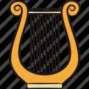 history, harp, lyre, musical instrument, greek