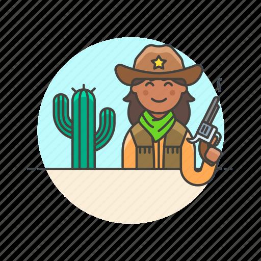cactus, cowboy, gun, hat, history, west, wild, woman icon