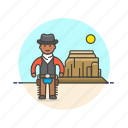 cowboy, gunman, hat, history, man, west, wild icon