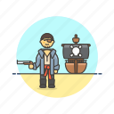 dangerous, gun, history, man, outlaw, pirate, ship icon