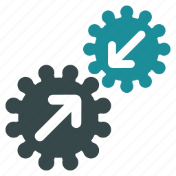 api, automatic connection, business tools, connect gears, gear box, integration process, system settings icon