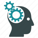 brainstorm, brainstorming, businessman, concept, strategy, thinking, thought icon