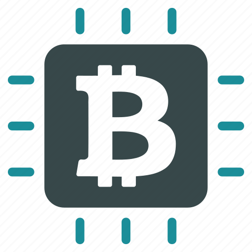 bitcoin, chip, electronic, hardware, science, system, technology icon