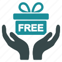 award, free, gift, offer, package, present, prize icon