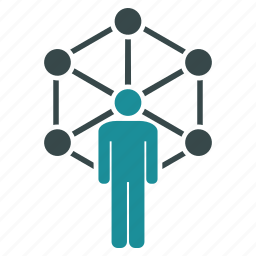 communication, community, connection, contacts, links, network, people icon