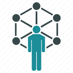 communication, connection, marketing, network, system, web icon