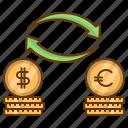 currency, dollar, euro, exchange, money