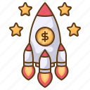 rocket, launch, startup, business, boost