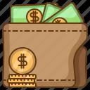 wallet, money, coin, balance, finance