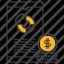 market, pie, chart, finance, business, mobile