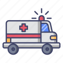 ambulance, emergency, car