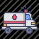 ambulance, emergency, car