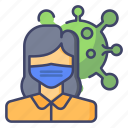 girl, mask, corona, virus