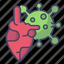 heart, virus, bactery, corona
